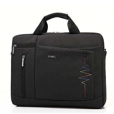 FEN CoolBell Tasche für MacBook Air 13,3 Zoll (33,8 cm), einfarbig, Nylon, Schultertasche für Business, Schwarz