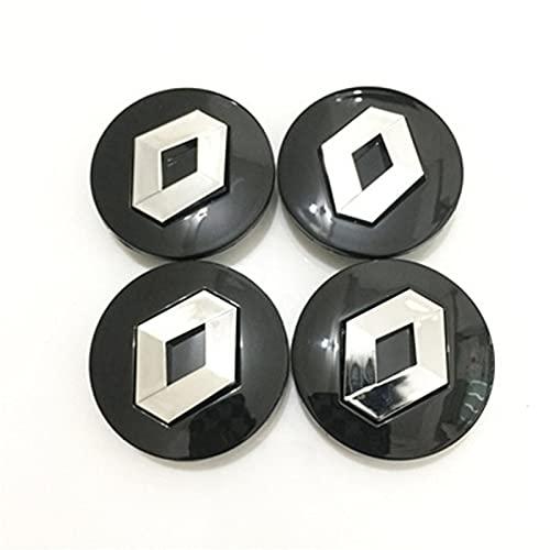 Ntjsmc Juego de 4 tapacubos de aleación para Renault Scenic, para llantas a prueba de polvo, 57 mm, color negro
