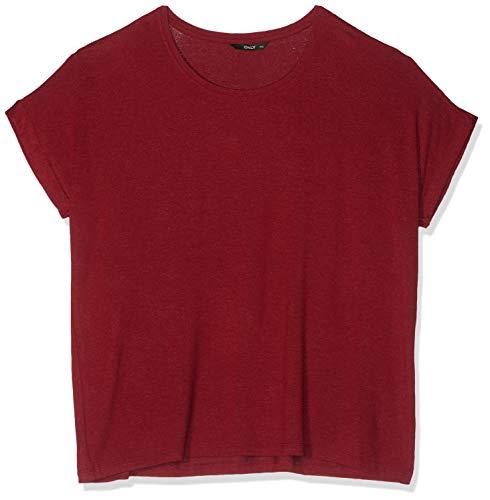 ONLY Damen ONLMOSTER S/S O-Neck TOP NOOS JRS T-Shirt, Rot (Merlot Merlot), Medium (Herstellergröße: M)