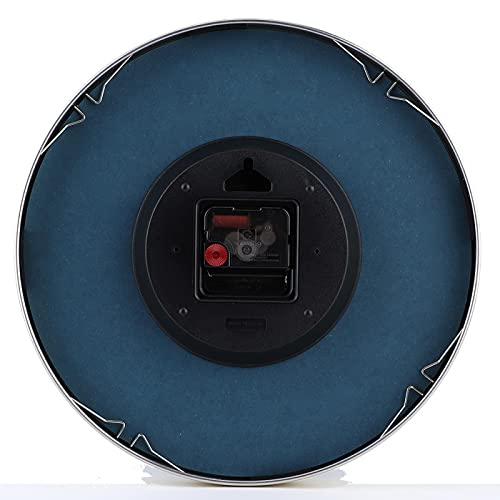 Uxsiya Reloj de oscilación Reloj Ambiental Oficina de Sala de Estar de Moda para la decoración del hogar(Blue Simple Style)