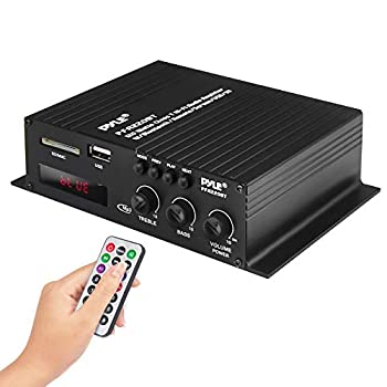 Pyle Class-T Bluetooth Power Audio Amplifier - 120W Mini Dual Channel Sound Stereo Receiver Box w/ USB RCA 12V Adapter - For Subwoofer Speaker Home Theater PA System Studio Use - Pyle PFA220BT