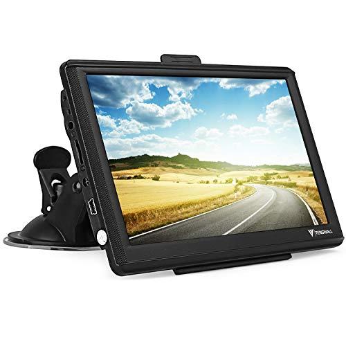 GPS Navigationsgerät für Auto, Navigation für LKW PKW KFZ 7 Zoll 8GB 256MB Touchscreen Navi mit POIBlitzerwarnungSprachführungFahrspur, Lebenslang Kostenloses EU-48Karten