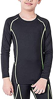 Boys&Girls Long Sleeve Compression Soccer Practice T-Shirt