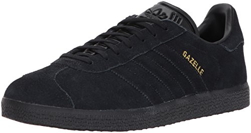 adidas Originals Gazelle Sneaker,Black/Black/Metallic Gold,8.5 Medium US