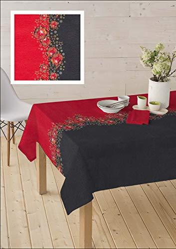 Home Imagine Mantel Navidad Antimanchas de Tela Resinada - Christmas. Disponible en Varias Medidas. (140_x100_cm)