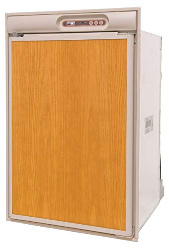 Norcold N410.3UR RV Refrigerator - 4.5 cu. ft. - AC/DC/LP - Left Hand Swing - Beige Trim