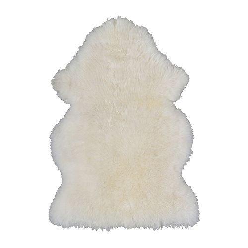 IKEA(イケア) LUDDE 90166468 羊皮, ホワイト