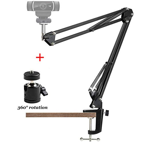 Anivia Webcam Stand,Webcam Clamp Mount Suspension Scissor Tripod Stand Holder Camera arm for Webcam W8 W5 C922 C930e C930 C920 C615