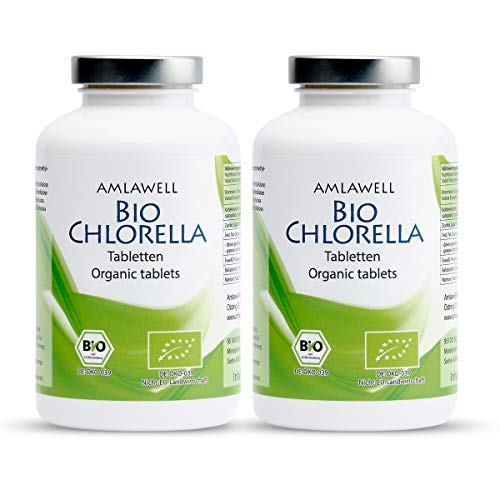Amlawell Pastilles de chlore bio - 500 g - 2000 comprimés - Vainqueur du test 2019 - Bio - DE-ÖKO-039