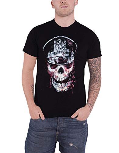 Rock Off - T-shirt Homme Slayer Skull Hat - Noir (Black) - X-Large