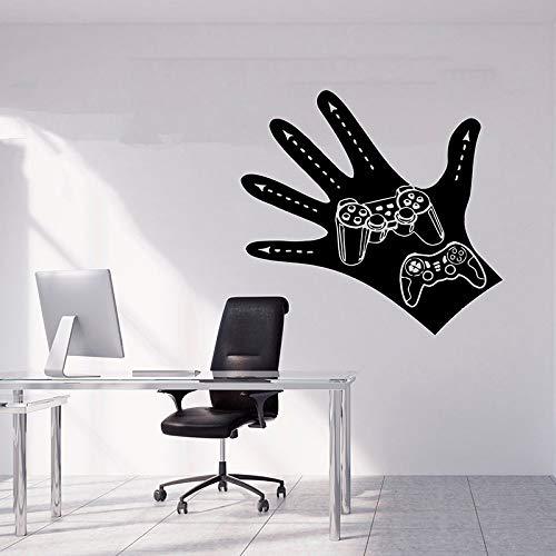 jiuyaomai Gamer Wandaufkleber Hand Wandtattoo Videospiel Geschenk Game Room Decor Boy Room Decal...