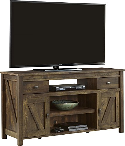 """Ameriwood Home Farmington TV Stand for TVs up to 60"""" Wide, Rustic"""