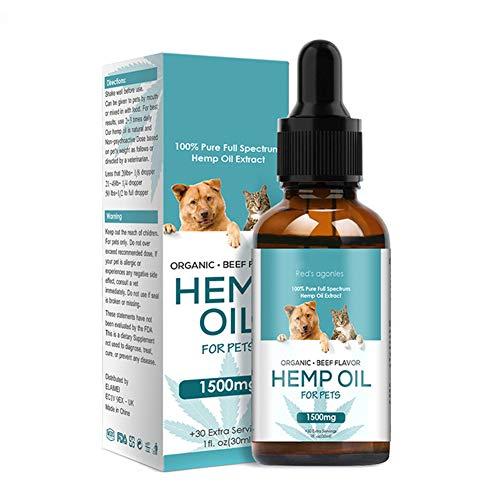 Alftek Hanföl Stress Schmerzlinderung Massage Pflege mit ätherischen Ölen Verbessern Sie den Schlaf für einen entspannenden Haustierhund