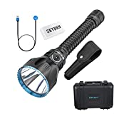 OLIGHT Javelot Pro 2100 Lumes NW LED Dual Switches Rechargeable Rifle Tactical Flashlight with Built-in Battery Pack and SKYBEN Battery Case(Black)
