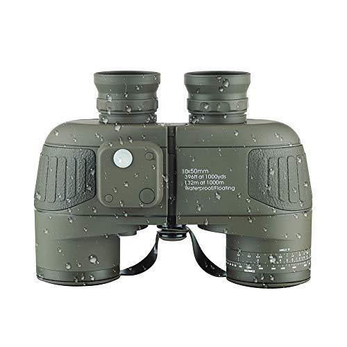 GYMO Nachtsicht-fernglas-vogelbeobachtung, Erwachsenes 10x50 Kompaktes Reise-militär-hd Berufsjagd-navigations-teleskop - Armee-grün,Bronze