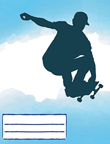 Skateboard Air Composition Notebook: Skateboarding Design College Ruled Lined Pages Book for fans stoked on Skating