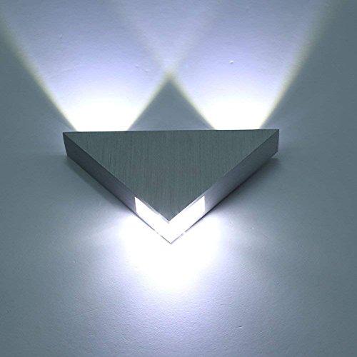 Louvra Applique Murale LED 3W Intérieure Lampe Moderne Décorative Créatif Éclairage Design Lumiaire en Aluminium pour Chambre Maison Couloir Salon Blanc Froid Bar KTV
