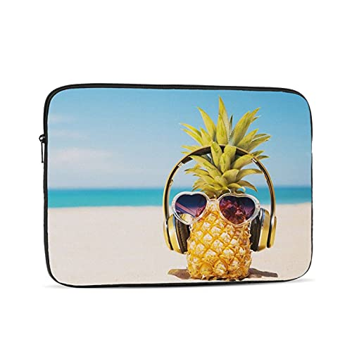 10 Inch Inch Laptop Bag Sleeve Case Beach and Pineapple Notebook Waterproof Computer Tablet Carrying Bag Cover