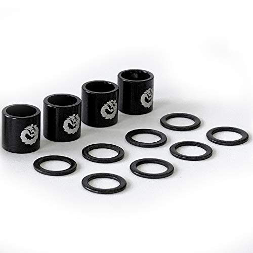 Fireball Dragon Spacers and Washers for Skateboards and Longboards (Skateboard Spacers (Black))