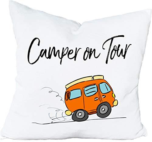 Cadouri Kissen » Camper on Tour « Dekokissen Kuschelkissen ︎ flauschig weich ︎ 40 x 40 cm