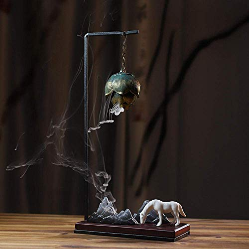 Quemador De Incienso De Reflujo Buda Caballo Blanco Rey Mono Caja De Regalo Anillo De Luz Creativo Decoración De Sala De Estar De Oficina Artesanía-Rey Mono (Juego De Té)