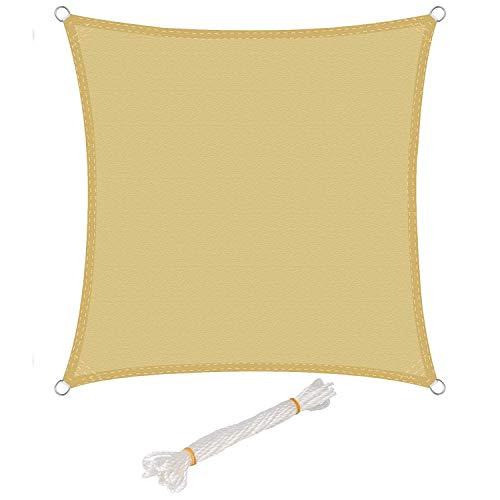 Toldo Vela de Sombra Rectangular Toldos IKEA Prevención Rayos UV Solar protección para Jardin Terraza Patio Gris - Beige 2x2m