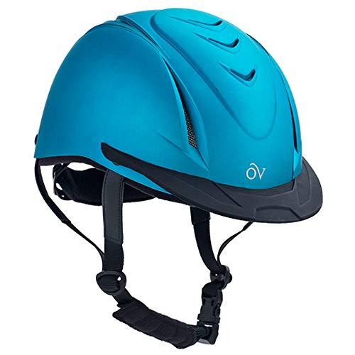 Ovation Kid's Metallic Schooler Riding Helmet, Teal, Small/Medium