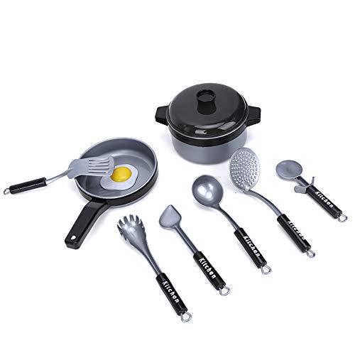 Salaty Play House Toy, Juguete de vajilla Duradero para Padres e Hijos, Juego de Juguetes para niños, Juego de Juguetes educativos, vajilla, Juguete para cocinar para niño(9-Piece kitchenware Set)