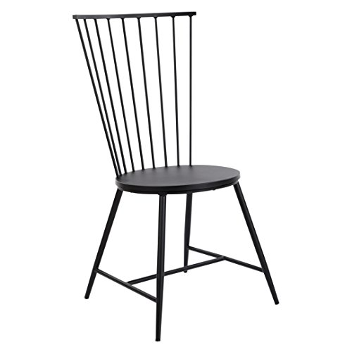 OSP Home Furnishings Bryce 26' Dining Chair, Black