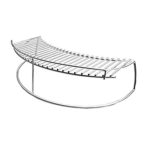 only fire Stainless Steel Warming Cooking Rack Fits for Charcoal Kettle Grills Like Weber,Char-Broil and Ceramic Grills Like Large Big Green Egg,Kamado Joe Classic,Pit Boss K22,Louisiana K22,17 3/4""