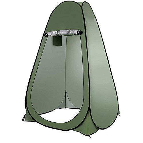 Jieyunran Camping Toilet Tent Pop Up Shower Privacy Tentfor Outdoor Changing Dressing Fishing Bathing Toilet Storage Room Tents,-green