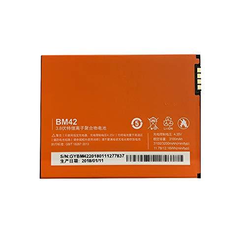Batería Compatible con Xiaomi Redmi Note, Red Rice Note, BM42, 3100 mAh