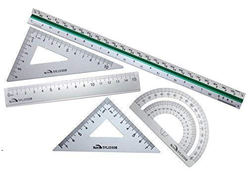 Lightweight Measuring Model Scale Ruler Metal Student Office School Supplies
