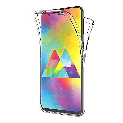 AICEK Compatible Samsung Galaxy M20 Hülle, 360°Full Body Transparent Silikon Schutzhülle für Samsung M20 Hülle Durchsichtige TPU Bumper Galaxy M20 Handyhülle (6,3 Zoll)