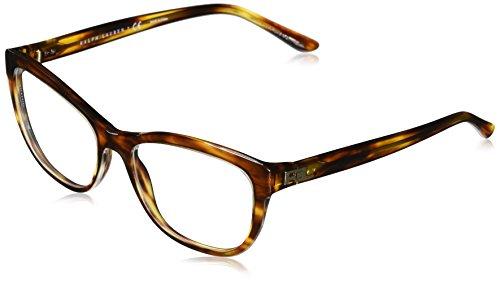 Ralph Lauren 0Rl6170 Monturas de gafas, Top Transparent/Stripped Havana, 54 para Mujer