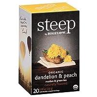 Bigelow Tea - 有機タンポポを急な&桃の紅茶 - 1ティーバッグ