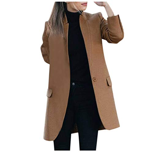 Wenini Women Fashion Open Front Blazer Belted Batwing Sleeve Woollen Trench Coats Cloaks