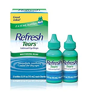 Refresh Tears Lubricant Eye Drops For Dry Eyes 0.5 Fl Oz  2 Count
