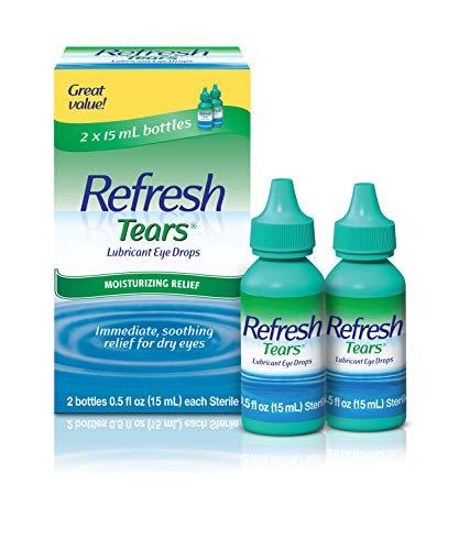 Refresh Tears Lubricant Eye Drops For Dry Eyes, 0.5 Fl Oz (2 Count)