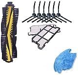 NICERE Partes de aspirador reemplazos robot Partes de aspirador kit para V7/V7S/V7S Pro cepillo principal/cepillo lateral/FilterV7S Pro accesorio con paño de limpieza