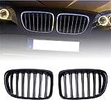 Gengcan Rejilla Delanteras para riñón para BMW E84 X1 18i 20i 25i 28i 2010-2015 Grille Frontales Parachoques Delantero Reemplazo Parrilla 1 par