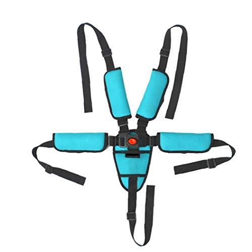 YZLSM 1PC Universal-Baby-Sicherheitsgurt 5-Punkt-Gurt Adjustable Kid Safe Strap Reise Clip-Bügel für Kinderwagen Kinderwagen (blau)