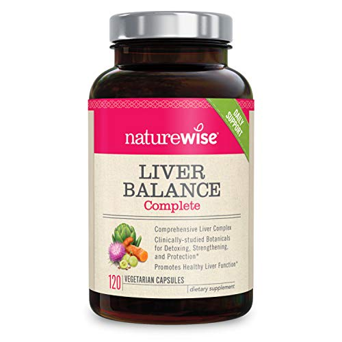 NatureWise Liver Detox Cleanse Supplement (2 Month Supply) Triple Repair Formula with Artichoke, Milk Thistle, Turmeric, and Dandelion Extract for Cleansing, Strengthening, and Protection (120 Count)