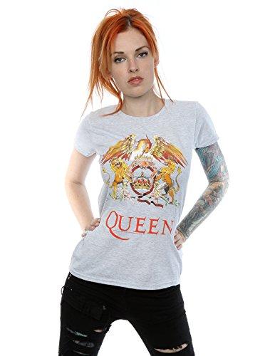 Women's Licensed Queen Crest Logo Grey T-shirt, also white, black, XS to XXL