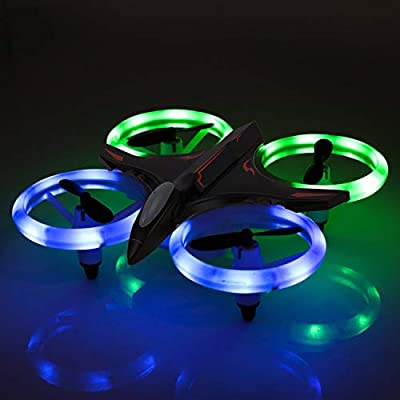RC Drone, Mini Drone for Kids and Beginners, Mini Drones Quadcopter with LED Lights, Altitude Hold Height Headless 4CH 2.4Ghz Helicopter Steady Super Easy Fly for 3 4 5 6 7 8-12 Year Old Boy Toys