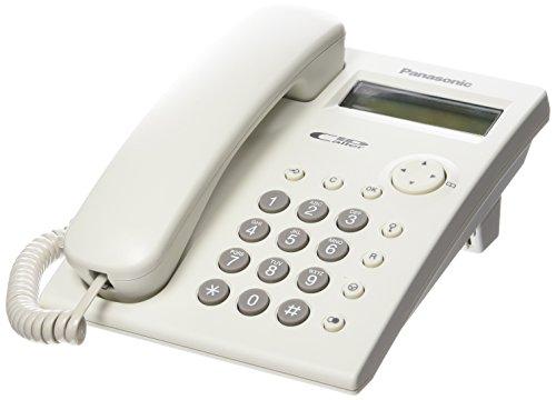 Panasonic KX-TSC11 - Teléfono fijo con cable (LCD, tecla de navegación, altavoz, montable en pared, compatible con audífonos), color blanco