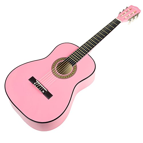 Music Alley MA-34-PNK Acoustic Beginner Guitar Pack, Pink