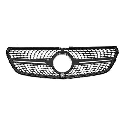 FLY MEN Guardias de la Parrilla Parrilla de la Parrilla del Parachoques Delantero del Coche con cámara para Mercedes para Benz V Class W447 V250 V260 2015 2016 2017-18 Parachoque (Color : Black)