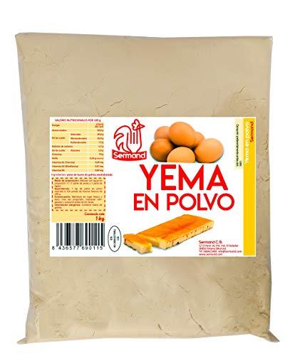 Yema de huevo en polvo. Bolsa de vacío de 1 Kg.