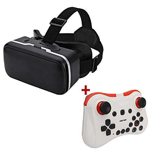 Sale!! Virtual Reality Headset 3D VR Glasses with Gamepad for 4.7-6.0 Inches Smart Phones Comfortabl...